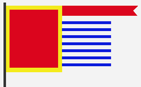 En China se creó la primera bandera de la historia