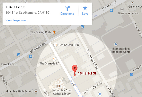 Google Map to the Alhambra Chamber of Commerce