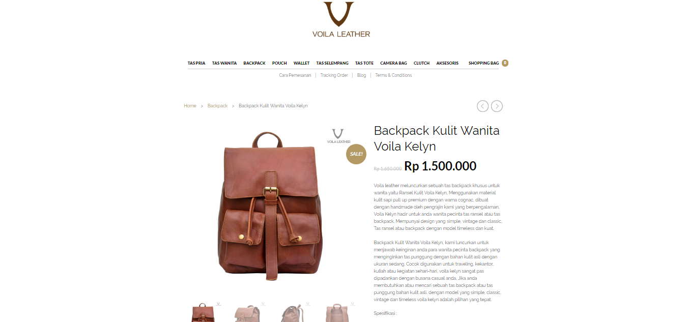 backpack voila leather