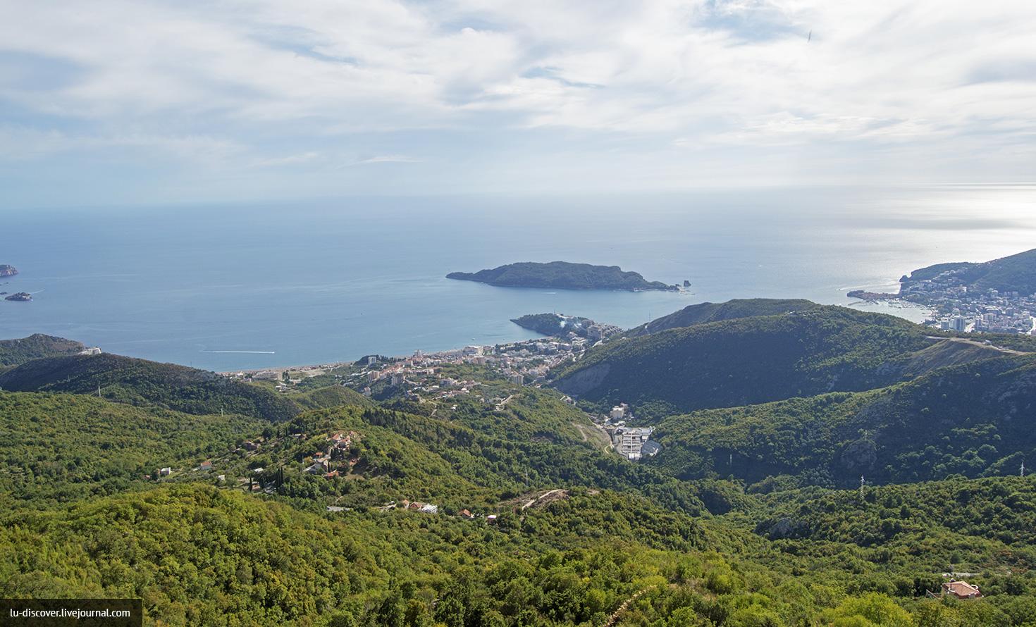 Прогулка по маршруту Будва-Цетинье-Негуши-Котор, панорамные фото Черногории, много видовых фото
