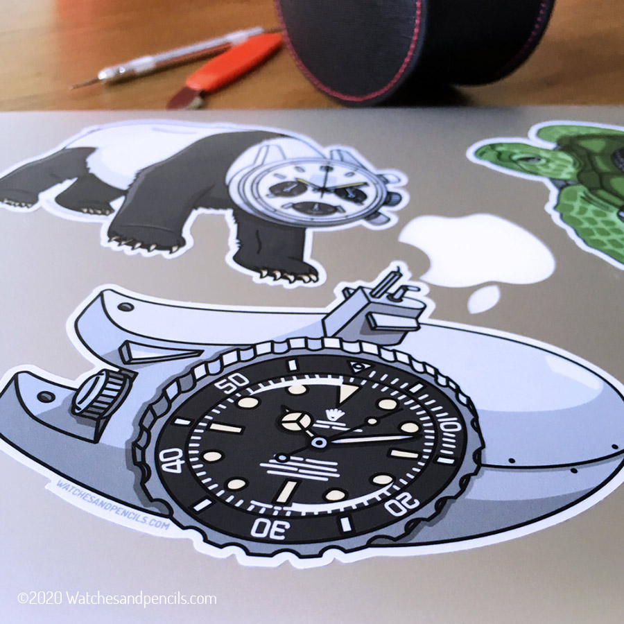 Watches and Pencils stickers