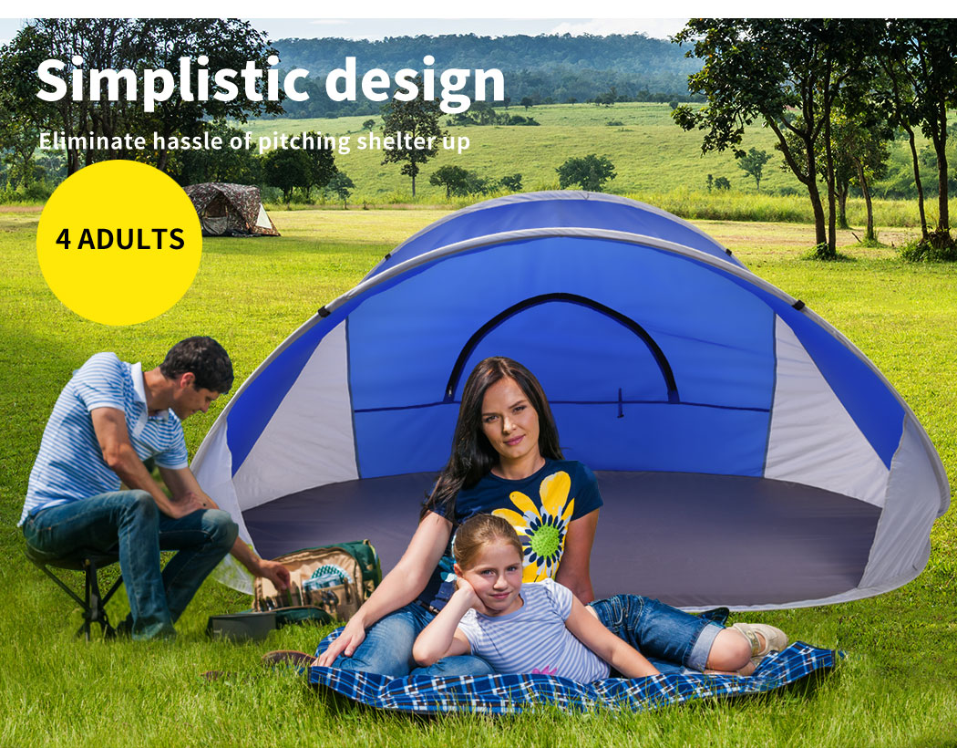 Mountvie-Pop-Up-Tent-Camping-Beach-Tents-4-Person-Portable-Hiking-Shade-Shelter thumbnail 14