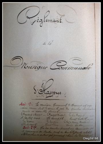 Réglement 1879