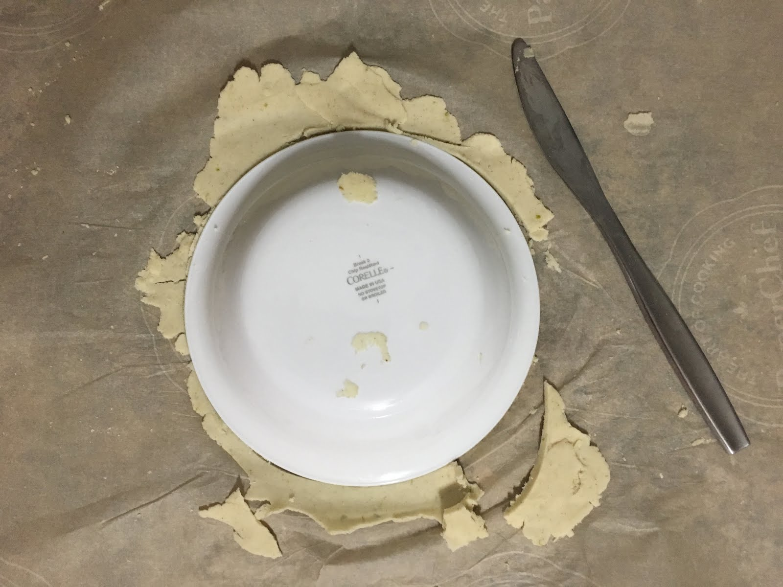 Using a bowl to get my tortilla the perfect shape