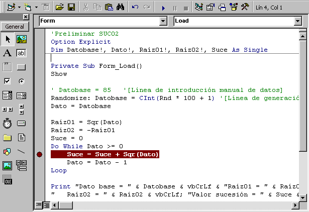 breakpoints visual basic