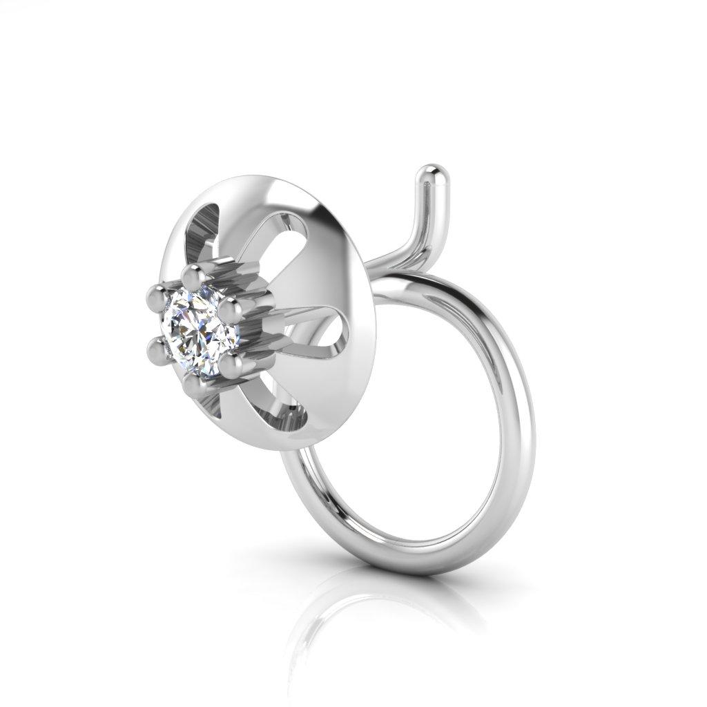 The Lavish Solitaire Diamond Nose Pin