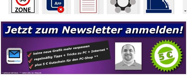 Beim Grafik-Archiv besteht die Möglichkeit, sich über neue Grafiken per Newsletter informieren zu lassen.