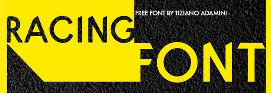 racing free font