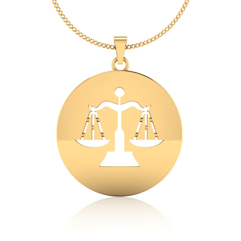 The Libra Zodiac Gold Pendant