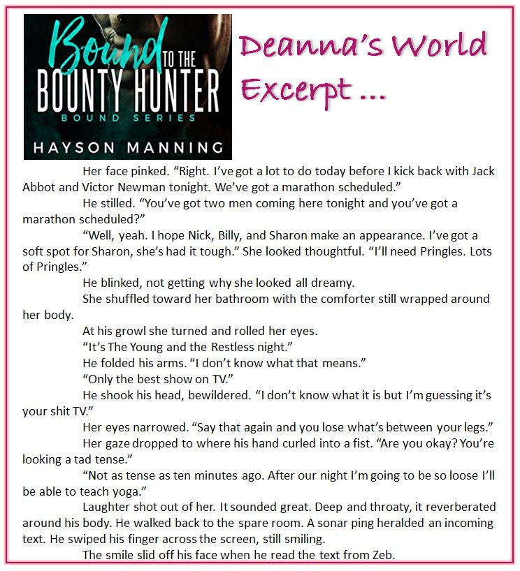 Bound To The Bounty Hunter by Hayson Manning excerpt