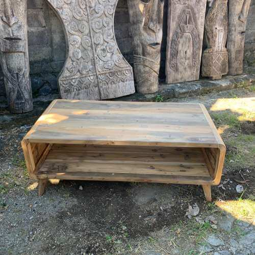 large coffee table - recycled wood