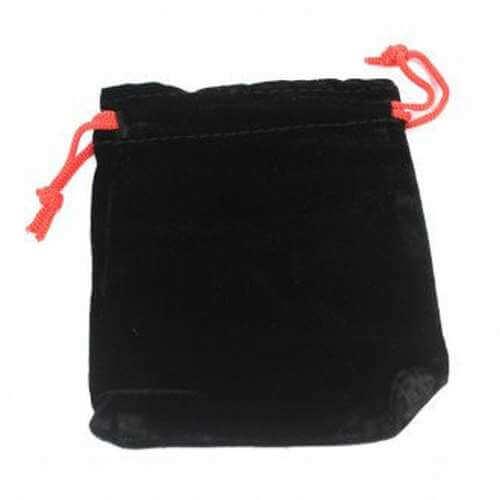 velvet pouch - black