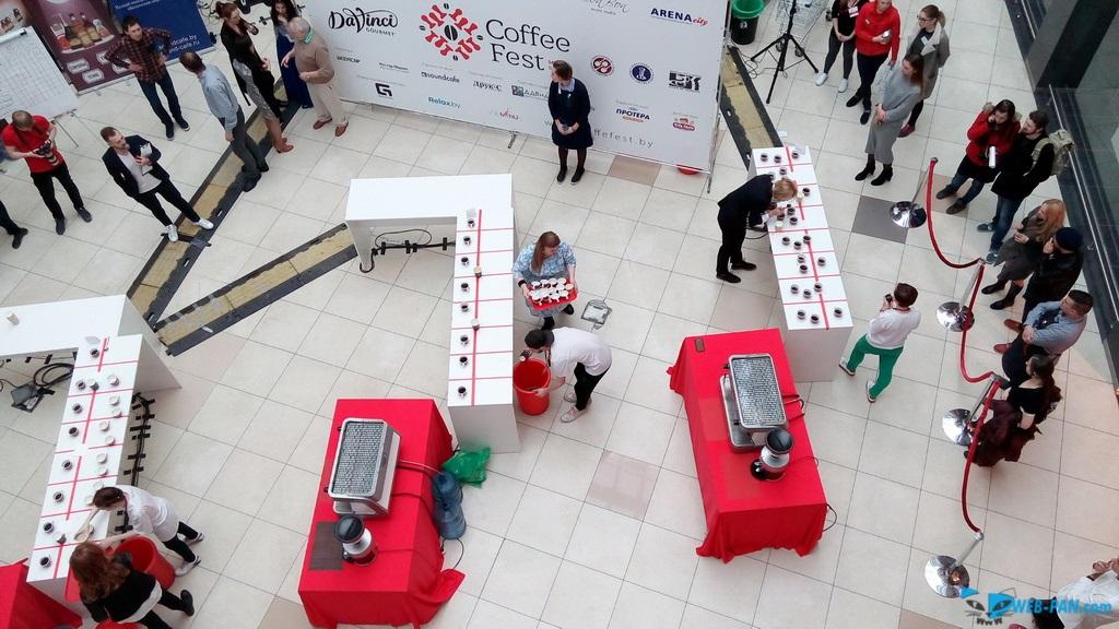 Кофейный праздник фото сверху, с парапета. Фото 1