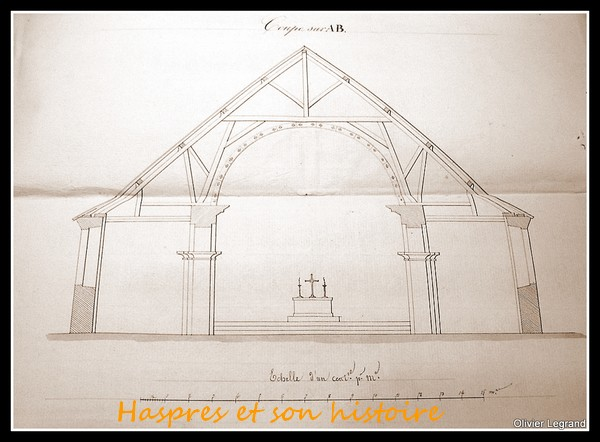 Projet d'installation d'un cintre à la Philibert Delorme