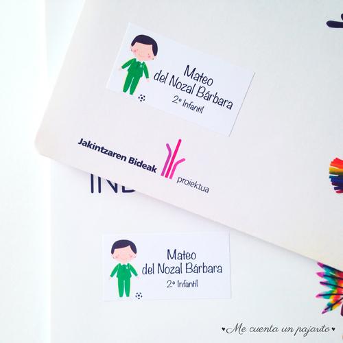 Etiquetas, Pegatinas personalizadas para los libros del colegio