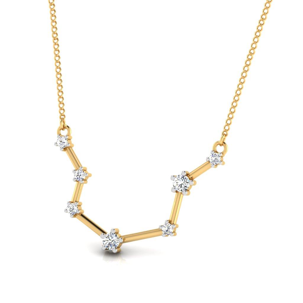 The Aquarius Zodiac Diamond Pendant