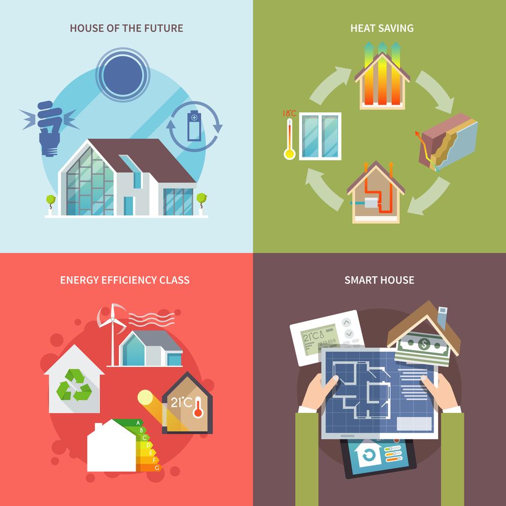 Ilustrasi Rumah yang Ramah Lingkungan