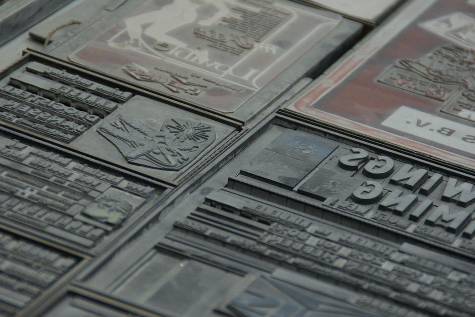 Printing typeset