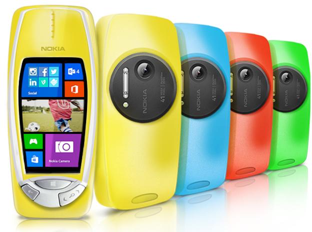 Pesce d'Aprile 2014 Nokia 3310 PureView Windows 8