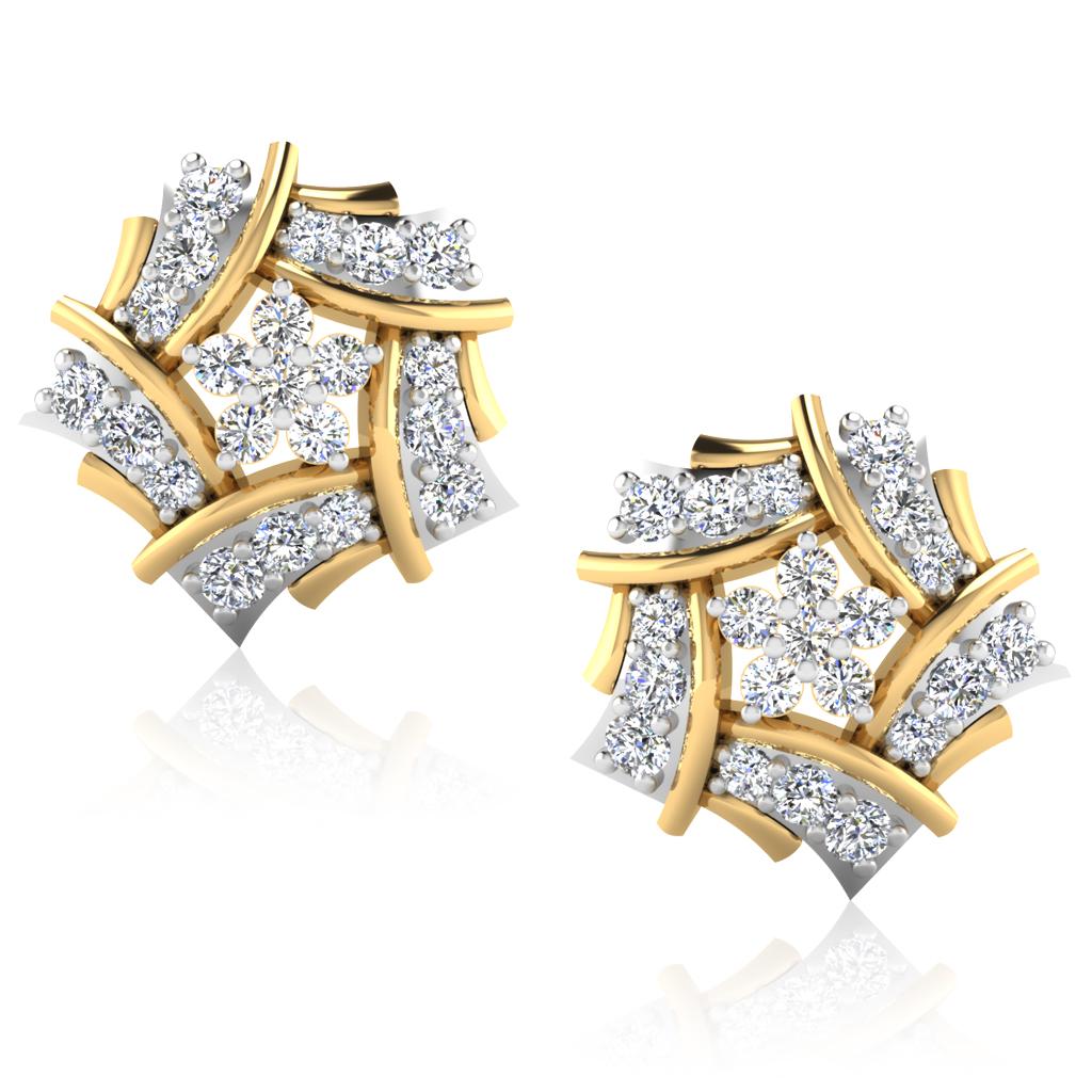 The Rouena Diamond Stud Earrings