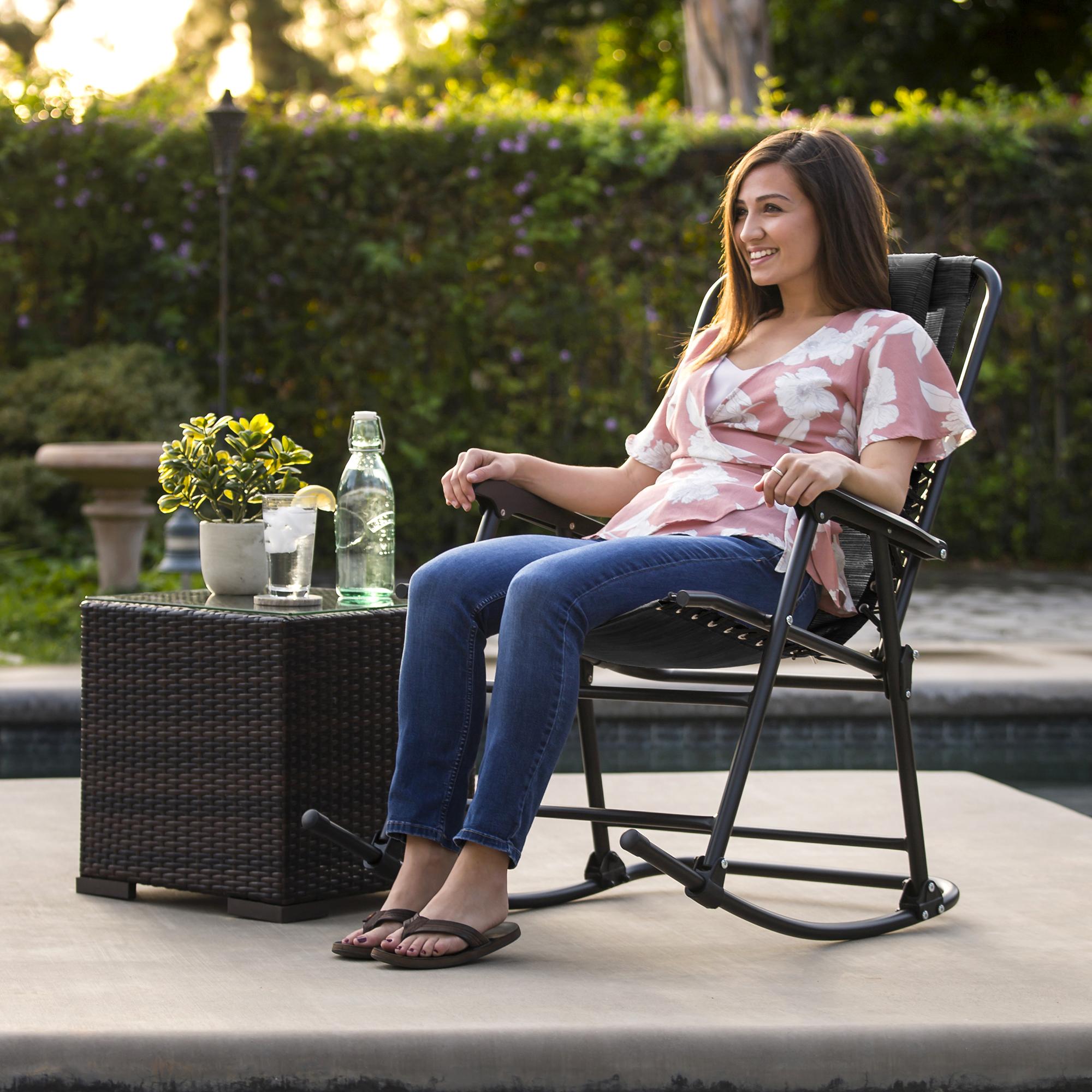 BCP-Foldable-Zero-Gravity-Patio-Rocking-Lounge-Chair thumbnail 37