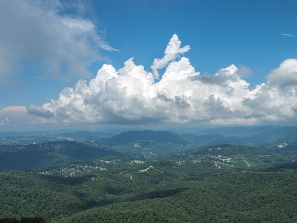 Вид с горы Большой Ахун.