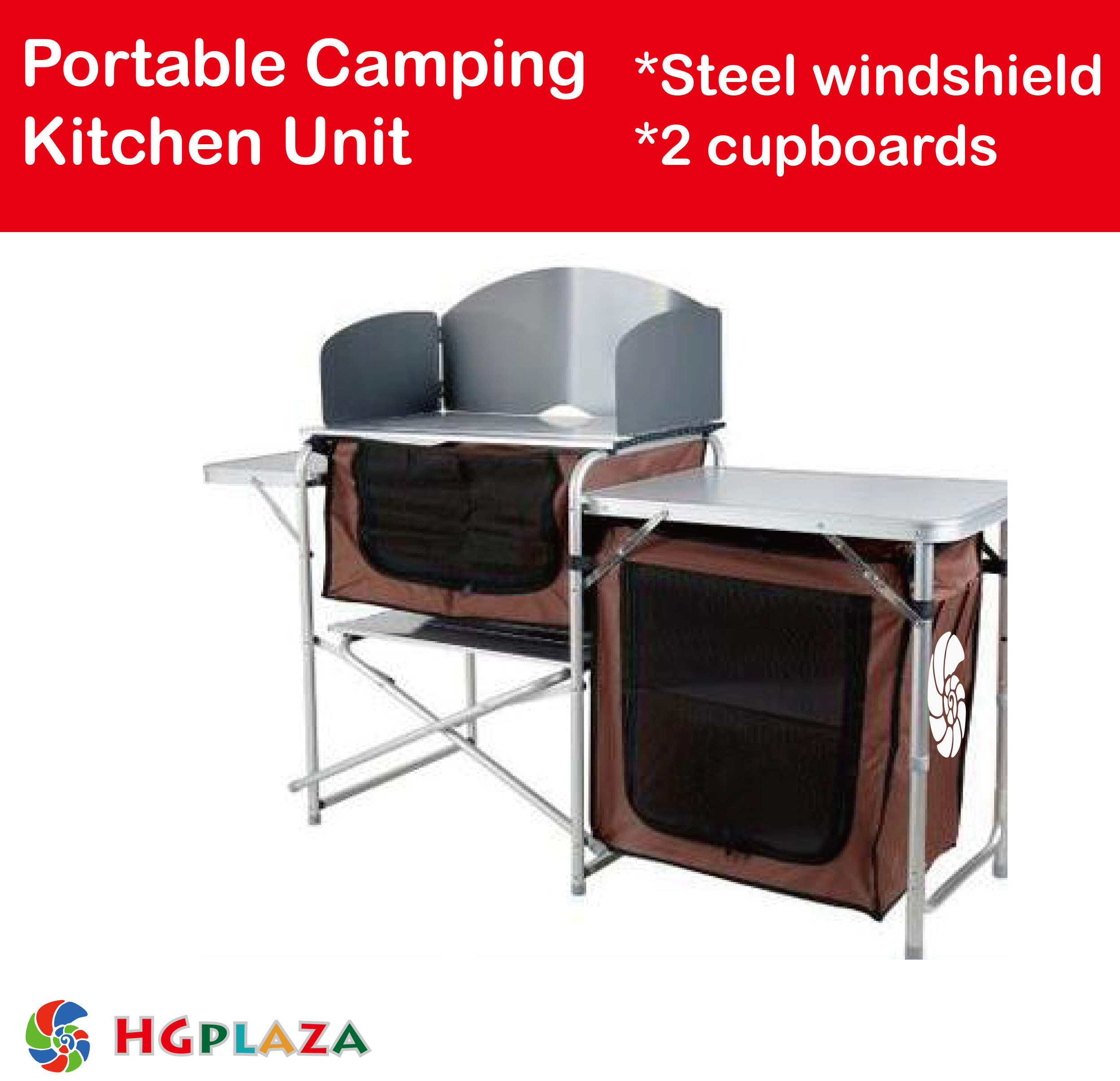 Portable Camping Kitchen Table Workbench Bench Folding