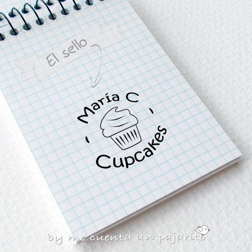 sello de cupcake