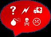 Grafik Ärger: Diese Grafik-Datei könnt ihr als Word-, GIMP- und PNG-Datei kostenlos herunterladen.