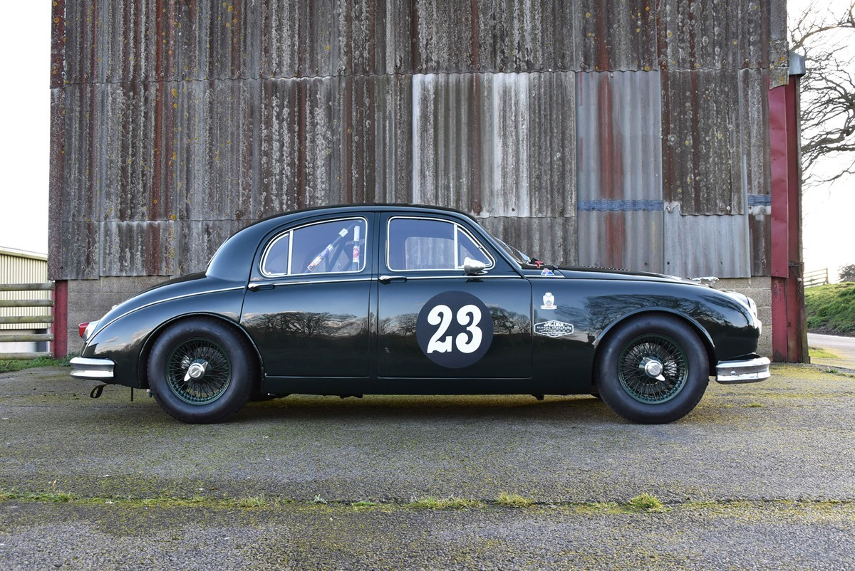 Jaguar Mk1 driven by Saloon Car champion Win Percy for sale