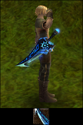 Zářivý krátký meč