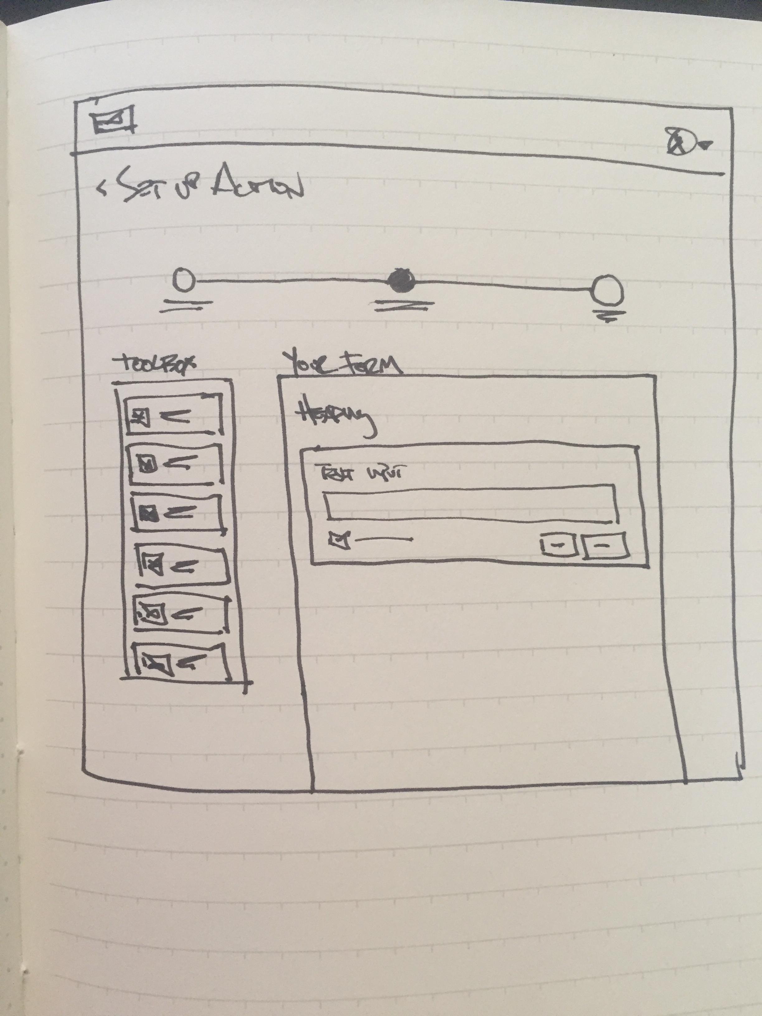 detailed UI sketch