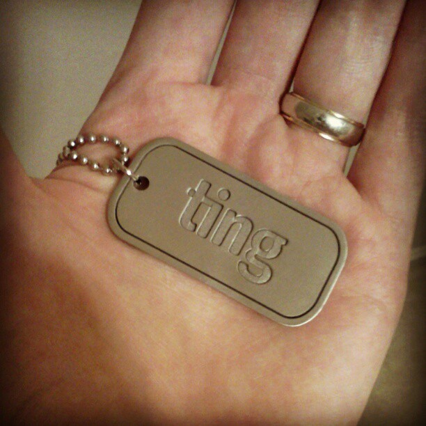 Ting Dog Tag