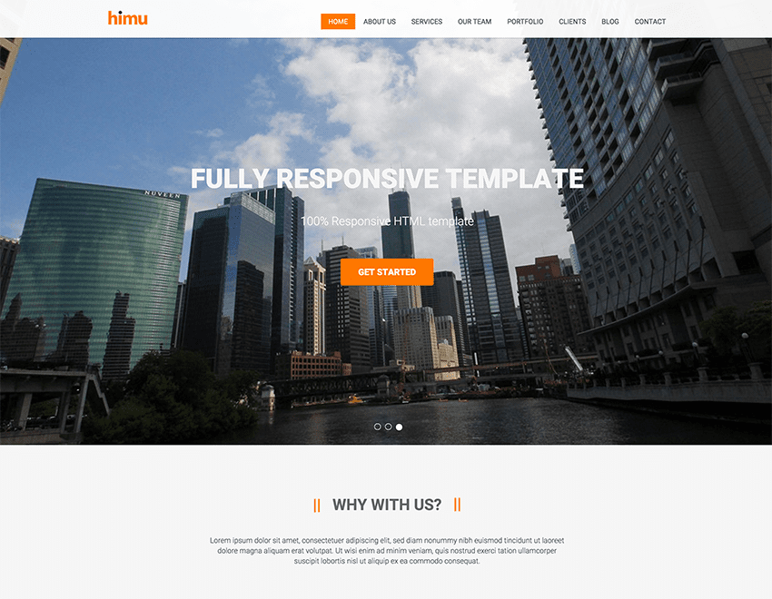 Himu – Free Responsive Bootstrap Template