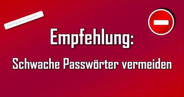 Viele Nutzer verwenden einfach zu erratende Passwörter. Das öffnet Hackern Tür + Tor.