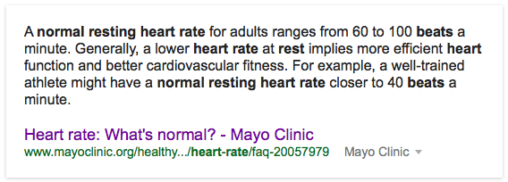 Normal Resting Heart Rate