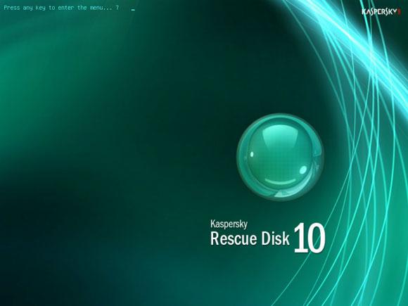 Kaspersky Resuce Disk boot
