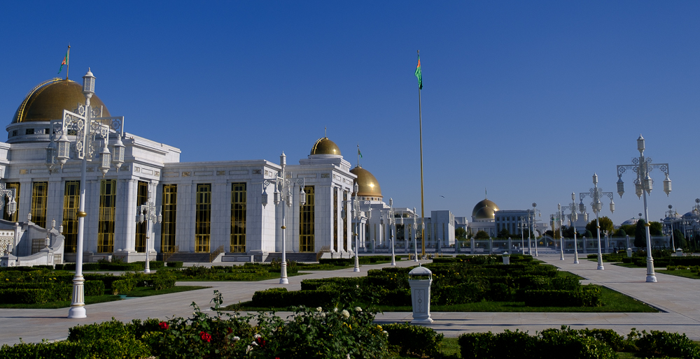 Stiekeme foto van het paleis, hiervoor kun je opgepakt worden.