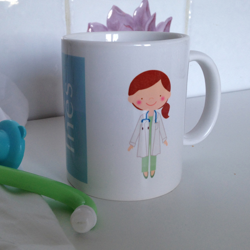 Taza personalizada para la pediatra, doctora
