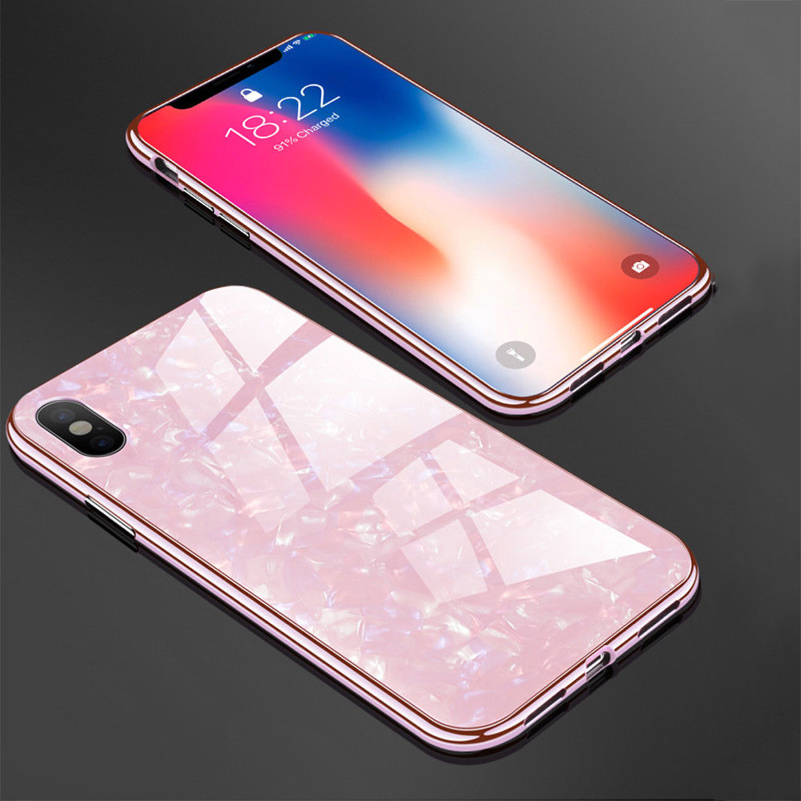 Luxury-Marble-Tempered-Glass-Case-Cover-For-Apple-iPhone-X-XS-XR-Max-10-8-7-6s-6 miniature 35