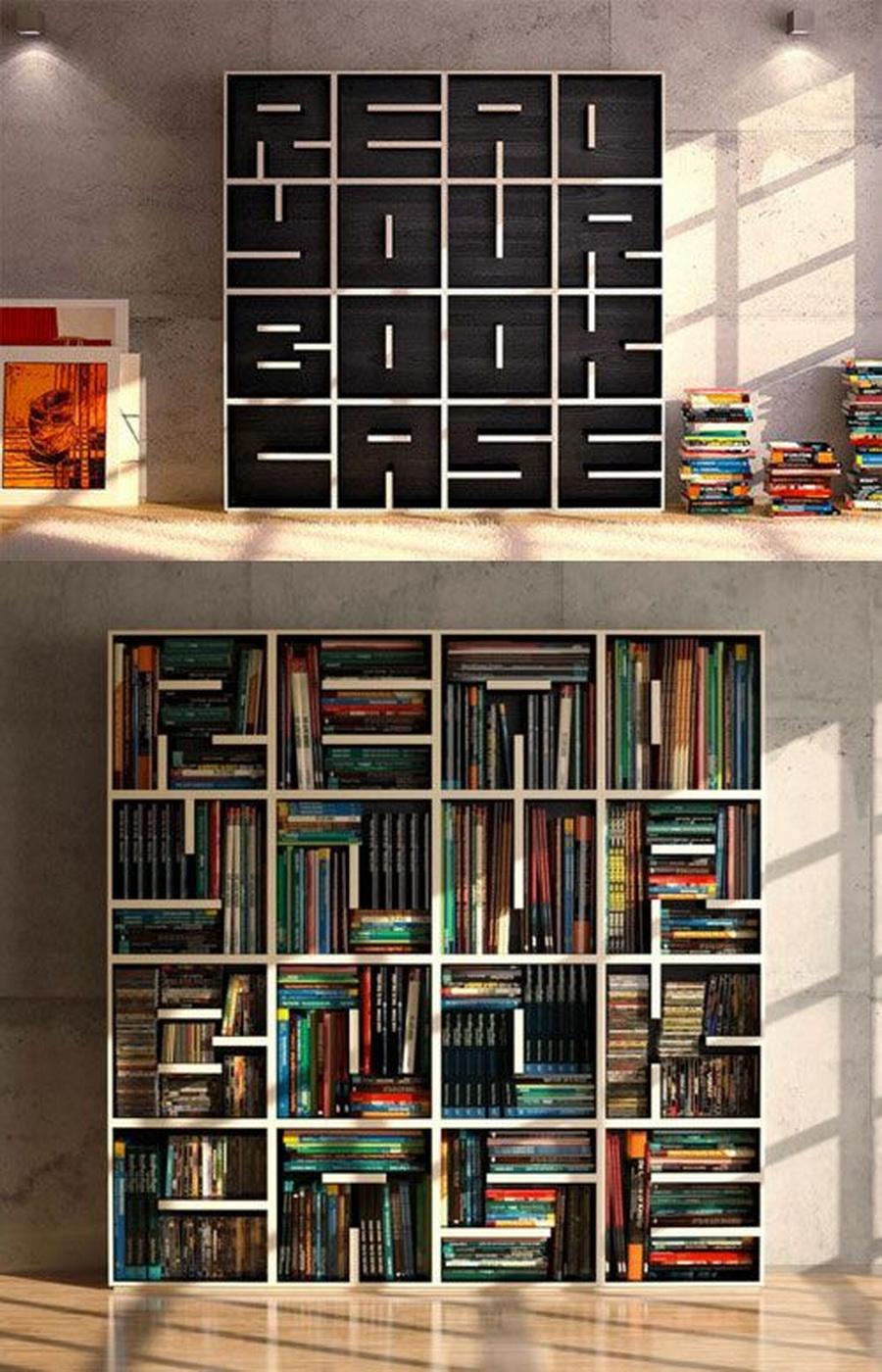 11 креативных книжных полок для любителей читать. нет ничего.