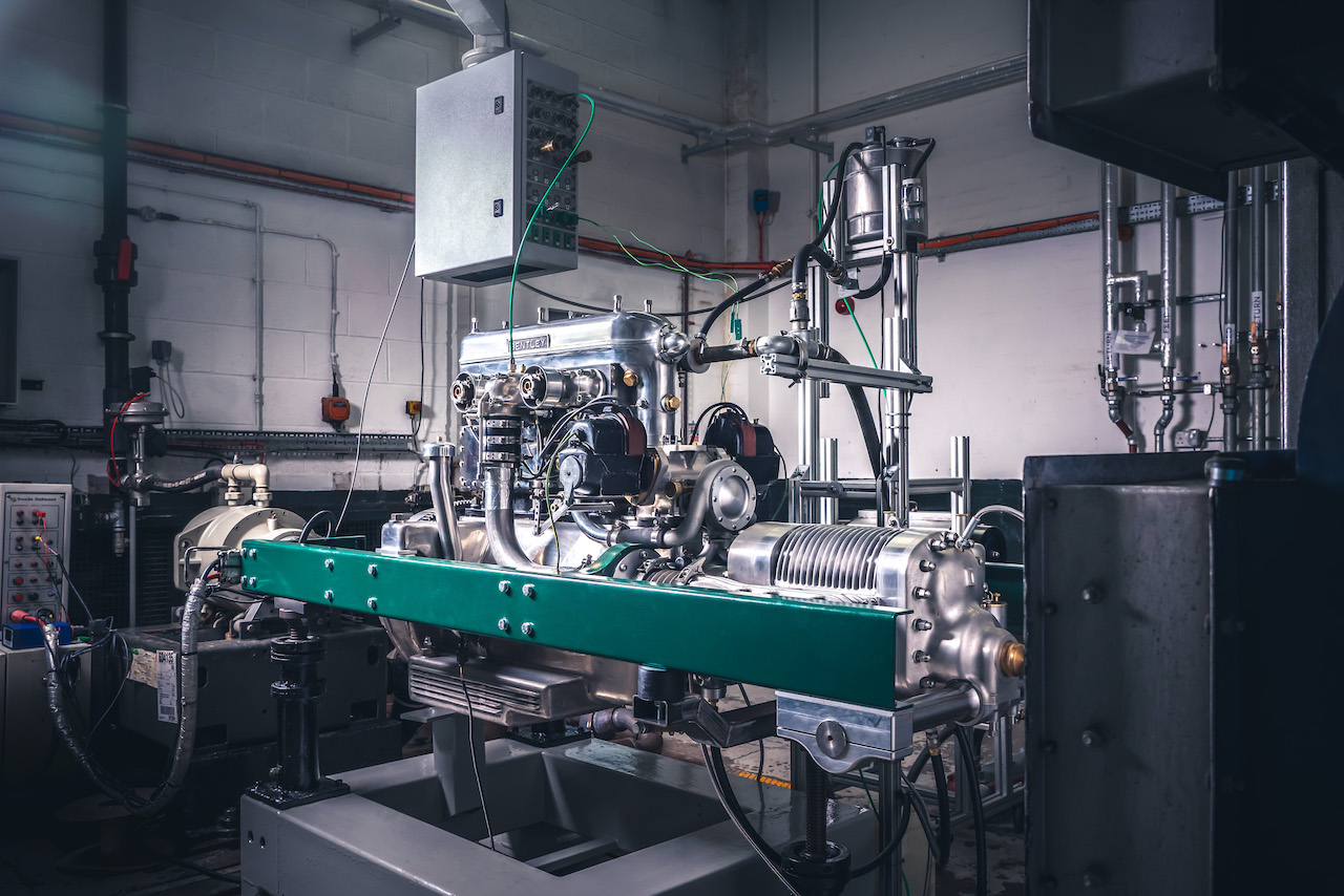 New Bentley Blower Continuation Series engine fires up