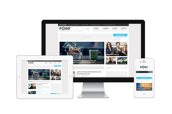 Point - free wordpress theme