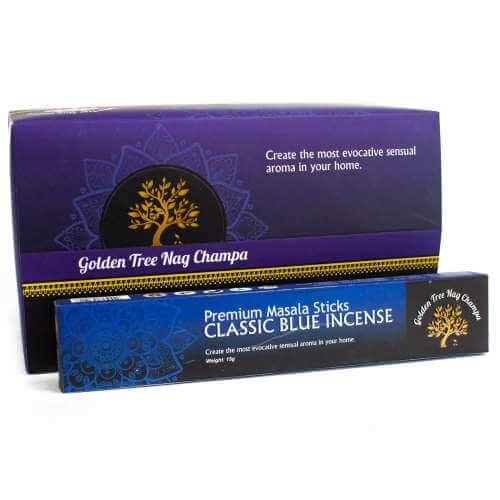 Golden tree premium nag champa incense - classic blue