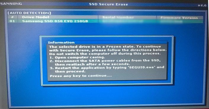 stan dysku SSD