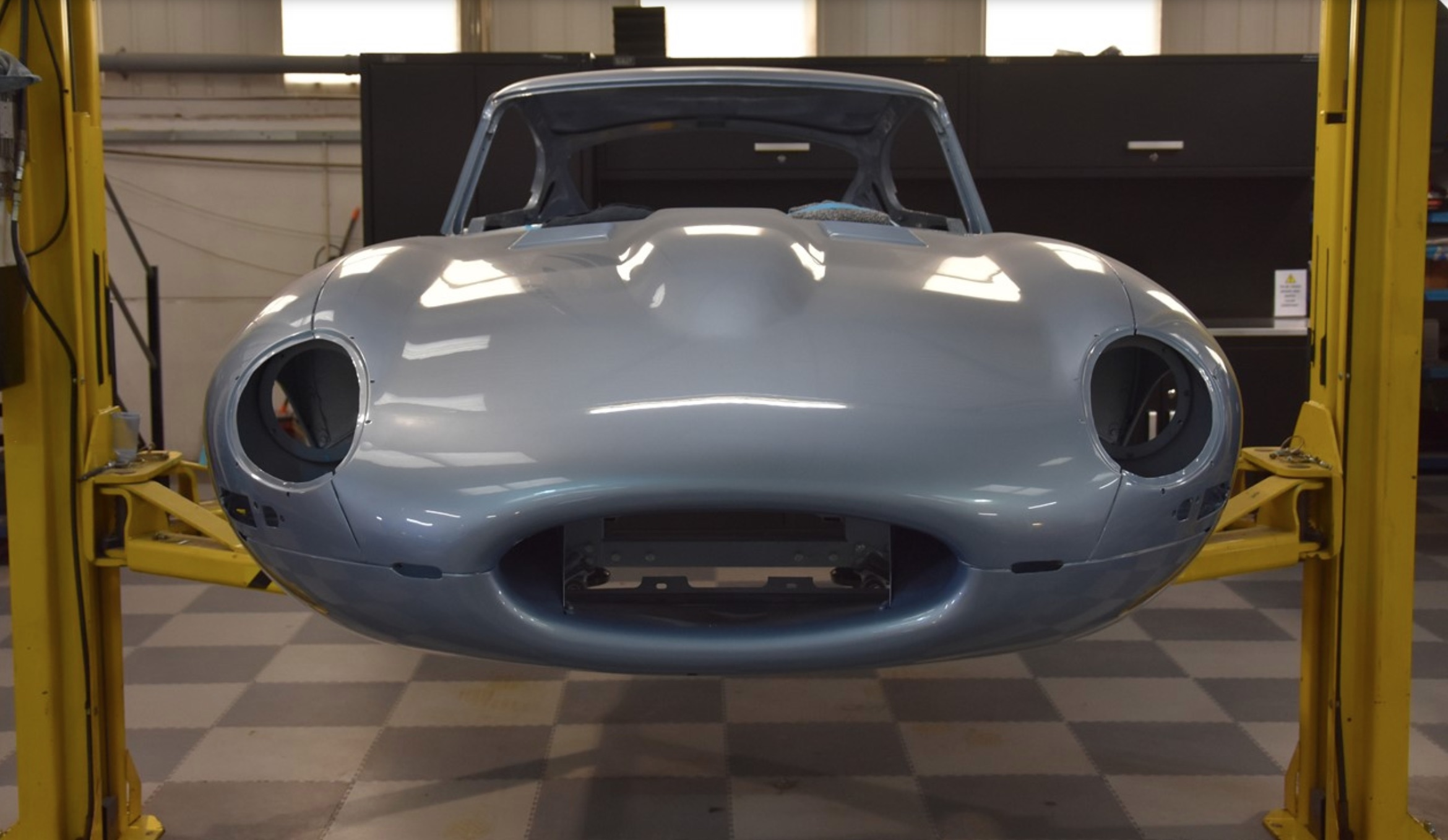 Series 1 Jaguar E-Type restored after being abandoned for 41 years