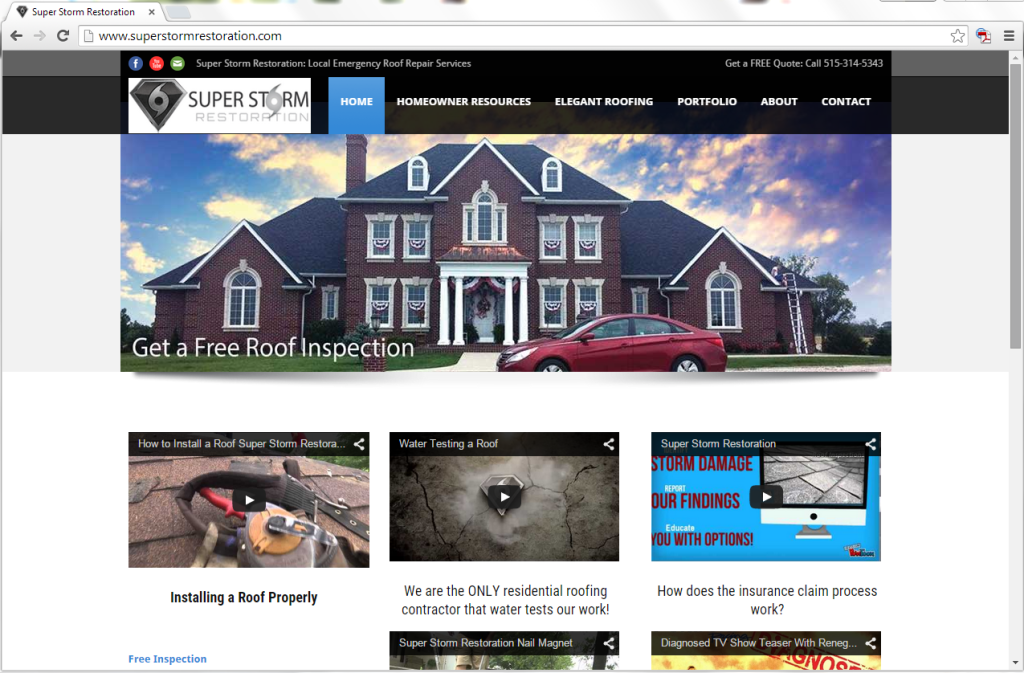 Super Storm Restoration Home Page