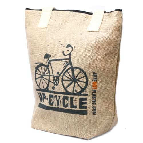 eco jute bag - up cycle
