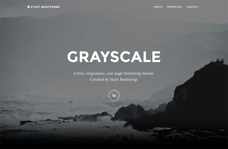 Grayscale – Onepage Bootstrap Free HTML Template