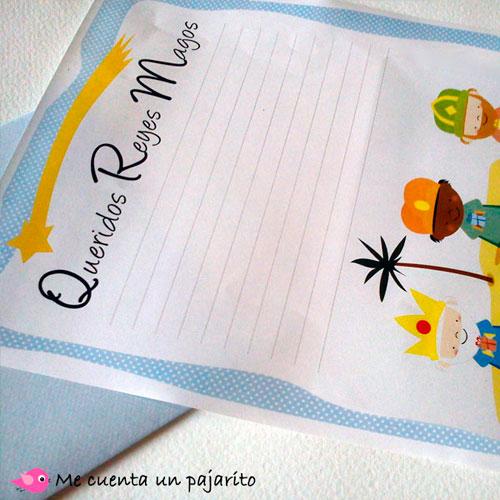 Carta para escribir los regalos a los Reyes Magos